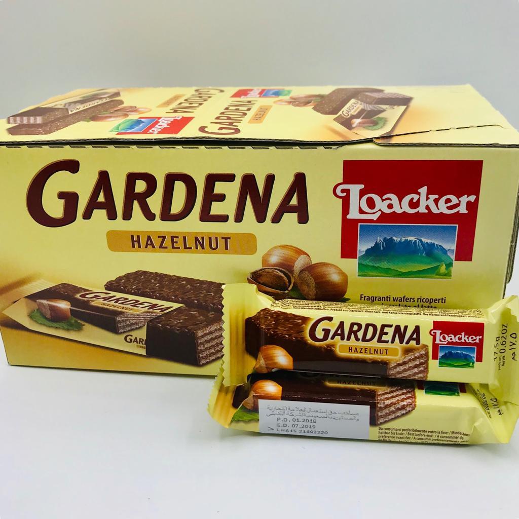 ويفر لواكر جاردينا مغطى بالشوكولاتة ومحشو بالبندق 17gx35x12 متجر سارونا